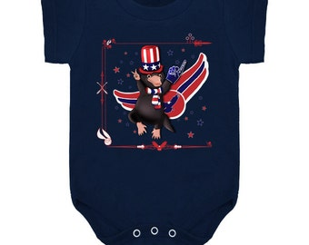 Fourth of July / July 4/ American/ Patriotic/ 4th July/ baby snapsuit/baby onesie