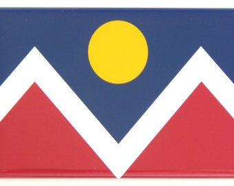 Flag of Denver Colorado Fridge Magnet