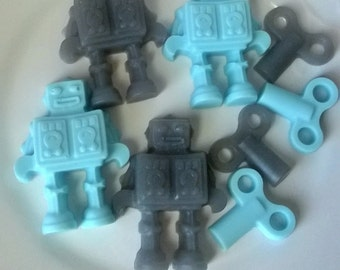 Robot Soap Set  - Goat Milk and Glycerin Soap - Gift for Him - Novelty - Birthday - Party Favor - NEW - Dude - Shaped Soap - Teen Boy
