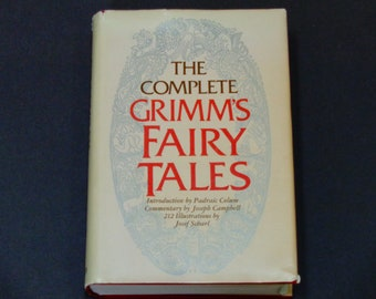 "The Complete Grimm's Fairy Tales - Josef Scharl - ""Rapunzel"" - Pantheon Books 1972 - Folk Literature - Vintage Illustrated Hardcover Book"
