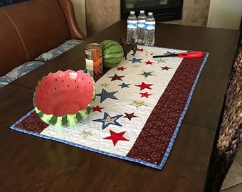 Fourth of July table runner