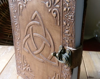 Leather  bound Journal Diary Grimoire Notebook Pagan Wiccan