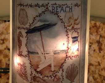 Lighted Bottle Beach Series