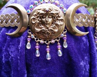Moon Goddess Elaborate Crown Circlet Headpiece