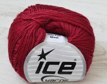 Knitting yarn, Destash yarn, wool yarn, red yarn, ice yarn, Y28