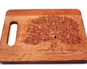 Wedding gifts Personalized Cutting Board Tree Cutting Board Couple Cutting Board Custom Cutting Board Wedding Gift For Couple