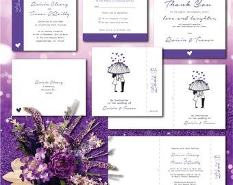 Purple Rain Invitation Set