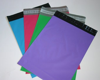 50 10x13 Poly Mailers  Purple Raspberry Neon Blue Green Colored Self Sealing Envelopes Easter Spring