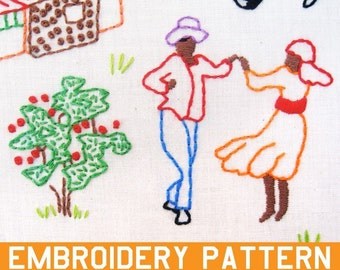 Haiti Sampler INSTANT DOWNLOAD pdf embroidery pattern - All proceeds donated to SOS Childrens Villages Haiti Relief Fund