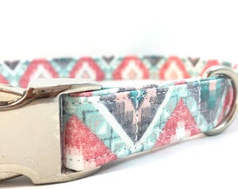 Aztec Dog Collar - Pink Tribal Dog Collar - Girl Dog Collars - Trendy Dog Collars - Bohemian Dog Collar - Colorful Dog Collars - Dog Collar