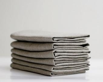 Linen napkins set of 6, natural linen cloth napkins, wedding napkins, daily napkins   0246