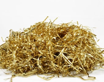 GOLD FOIL SHREDS - Glossy Gold Metallic Tinsel Shreds (56g)