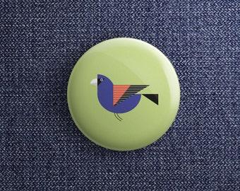 button met blauwe kardinaal (pin / magneet / spiegel)