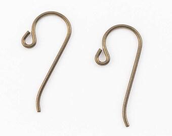 25mm Brass Plated Niobium Shepherd Hook Ear Wire #NFI017