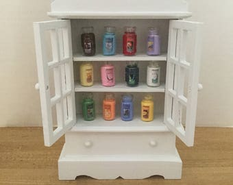 Dollhouse furniture candle cupboard
