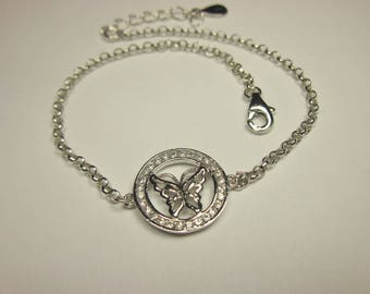 Bracelet with butterfly motif by Silver 925 (73)