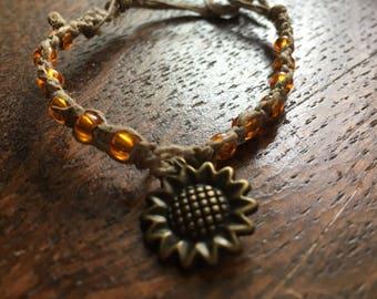 Women's sunflower bracelet