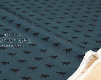 Cotton + Steel Lawn Quilt - unicorn race - denim - 50cm
