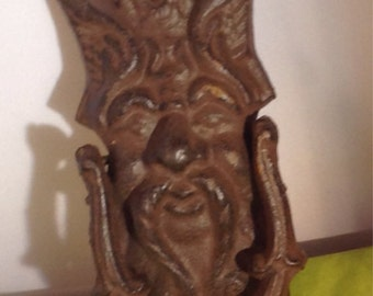 Green man door knocker (gargoyle)