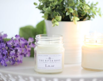 Lilac   100% Natural Soy Candle   Hand-Poured