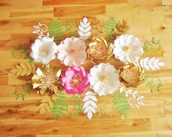 Paper Flowers 8 Mini - Flower Wall | Paper Flower Backdrop | Baby Room Decor | Baby Nursery | Wedding Decorations | Home Decor