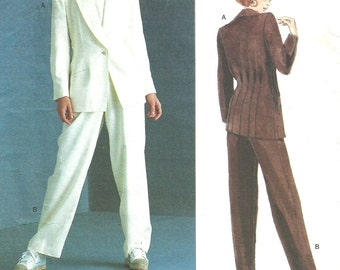 Vogue 1528 Designer Sewing Pattern By Anne Klein // Pants Jacket Suit // Sizes 8 10 12