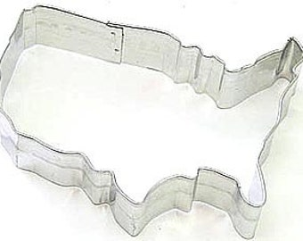 USA Map United States Cookie Cutter for 4th of July, Military, Scouts, Patriotic, Elections