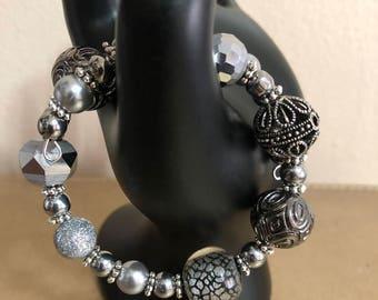 Jesse James beaded memory wire bracelet