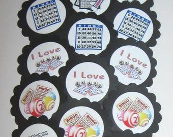 Bingo Cupcake Toppers/Party Picks  (15pc Set) Item #1707