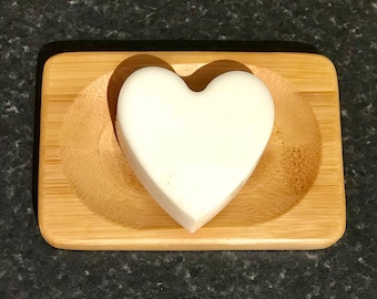 Heart shaped Handmade Goat's Milk Soap with Coconut fragrance. Approx 45g