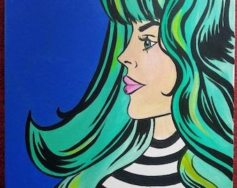 Pop Art Green Hair