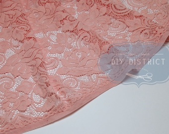 Pink flower lace stretch.