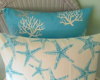 SALE Beach House Coral and  Starfish Cover-Housewares-Home Decor-Beach