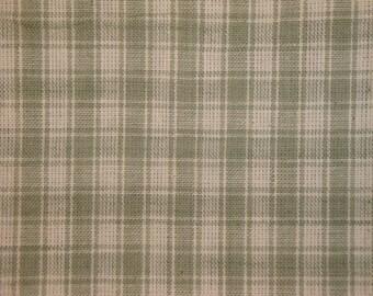 Sewing Fabric | Quilt Fabric | Homespun Fabric | Plaid Fabric | Craft Fabric | Large Grey Plaid Fabric | Primitive Fabric | Rag Quilt Fabric