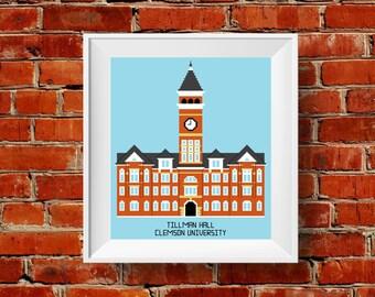 PATTERN: Clemson University Tillman Hall Cross Stitch