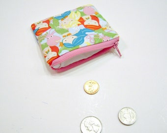 Coin Pouch in Bright Mermaids