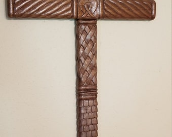 These are amazing large crosses my father makes by hand with an exacto knife and a box cutter.