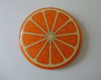 VINTAGE ORANGE slice TRIVET - fruity kitchen decor - orange kitchen decor - kitschy kitchen