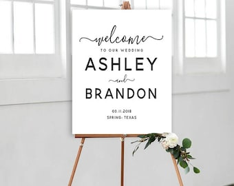 Wedding Sign, Welcome to our Wedding Sign, Rehearsal Dinner Sign, Reception Sign