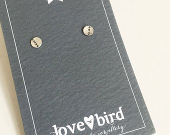 Silver Stamped Trail Studs