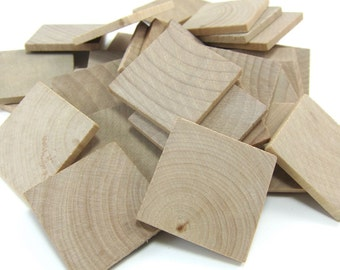 """1-1/4"""" Unfinished Wooden Square Tiles (25mm)"""