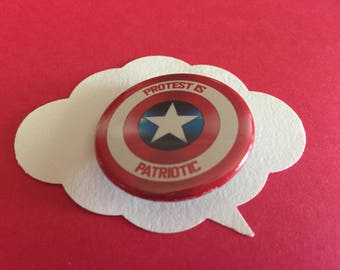 protest is patriotic pin | political button