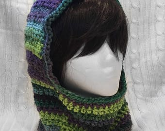 Chunky Crochet Hooded Cowl Scoodie