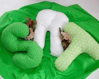 Alphabet  Pillows - R S T