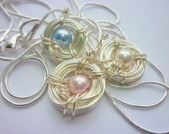 Personalisierte Birds Nest Halskette Familie Muttertag oder Mutter zu werden