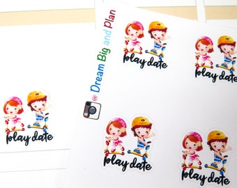 Play Date Planner Stickers
