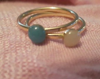 reserved for kayla g size 4.75 Ring blank Bezel setting - 14k yellow Gold Filled (flattened slightly) heavy 14 ga - 6mm cup ONE