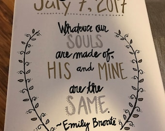 Wedding Quote Board--Emily Bronte