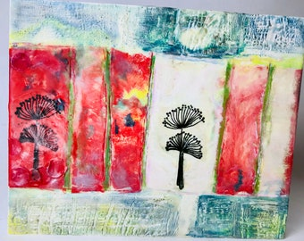 Fragments from Sky - Mixed Media/Encaustic Paintings