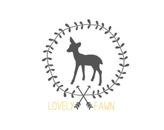 Modern Tribal Chic Custom Business Logo - One of a Kind Design - arrows - deer